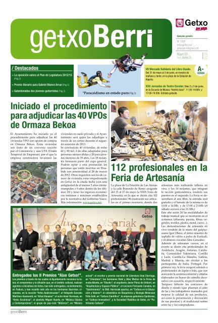 112 Profesionales En La Feria De Artesanía Getxo