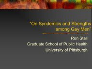 On Syndemics and Strengths among Gay Men - GMSH