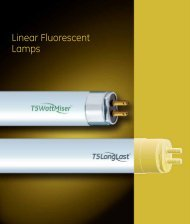 Linear Flurescent Lamps (Spectrum) - Catalogue - GE Lighting