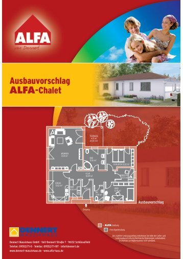 Ausbauvorschlag ALFA-Chalet - GIF-Immobilien