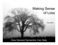 Making Sense of Loss - The Institute of General Semantics