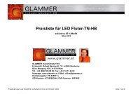 Preisliste für LED Fluter-TN-HB - GLAMMER Industriebedarf KG
