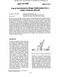 Use of Aerodynamic Shape Optimization for a Large