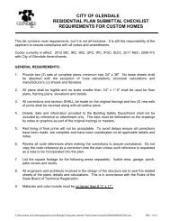 city of glendale residential plan submittal checklist requirements for ...