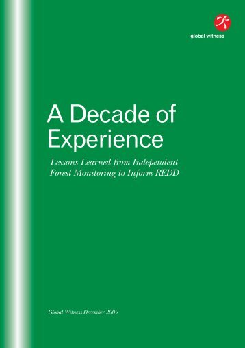 A Decade of Experience:REDD - Global Witness