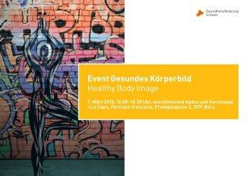 Veranstaltung am 07. März 2013 - Gesundheitsförderung Schweiz