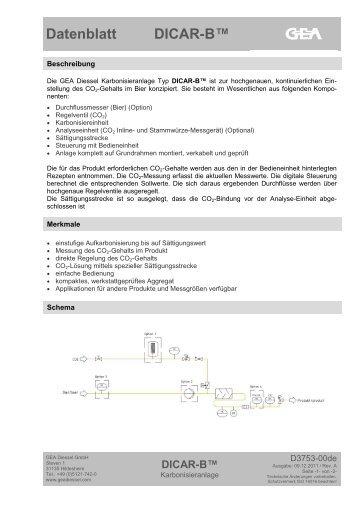 Datenblatt DICAR-B™ - GEA Diessel GmbH