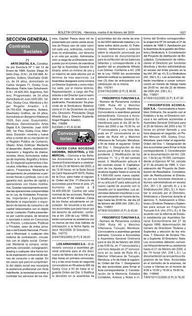 Boletin Oficial N 26089 Del 08 02 2000 Gobierno De Mendoza