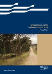 armstrong creek urban growth plan volume 1 - City of Greater Geelong