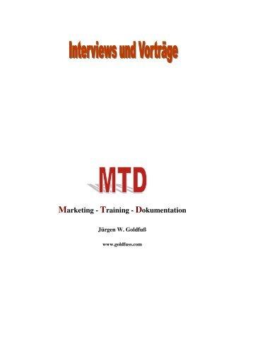 Marketing - Training - Dokumentation - Jürgen W. Goldfuß