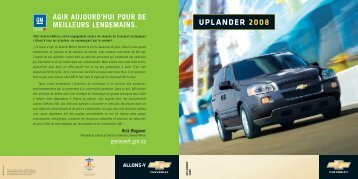 UPLANDER 2008 - GM Canada