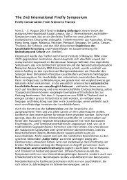 Kurzbericht zum Symposium (pdf) - Glühwürmchen