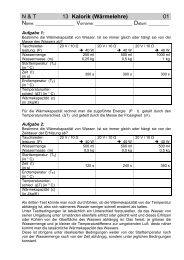 N & T 13 Kalorik (Wärmelehre) 01 - Gegenschatz.net