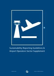 Airport Operators Sector Supplement - Global Reporting Initiative