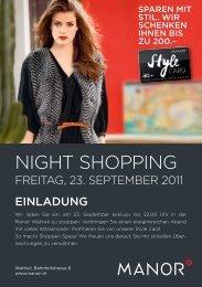 Flyer Night Shopping