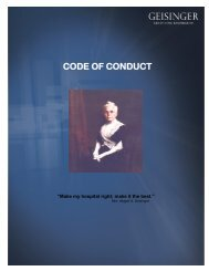 Code of Conduct (.pdf) - Geisinger Health System
