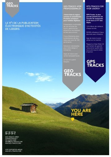 you arE hErE - GEO-Tracks