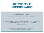 Responsible Communication - PRVA