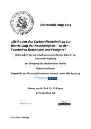 """Universität Augsburg """"Methoden des Carbon Footprintings zur ..."""