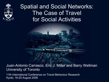 Spatial and Social Networks: The Case of Travel for Social Activities