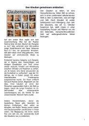 Den Glauben gemeinsam entdecken - Gdg-steinfeld.de