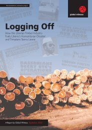Logging Off Colour - Global Witness