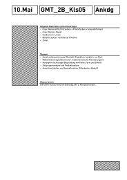 Ankdg 10.Mai GMT_2B_Kls05 - Gestaltungs- und Medientechnik