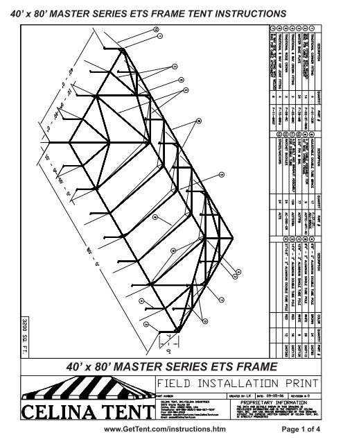 40' x 80' MASTER SERIES ETS FRAME - Celina Tent
