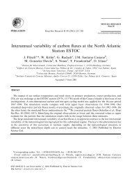 Interannual variability of carbon fluxes at the North Atlantic ... - ulpgc