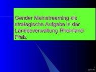 Gender Mainstreaming als strategische Aufgabe in der ...