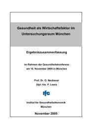 Gesundheit als Wirtschaftsfaktor im Untersuchungsraum München