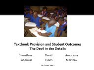 Textbook Provision and Student Outcomes - Global Partnership for ...