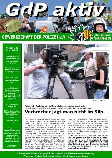 Publisher GdP aktiv 2010-07-26 - GdP Mannheim