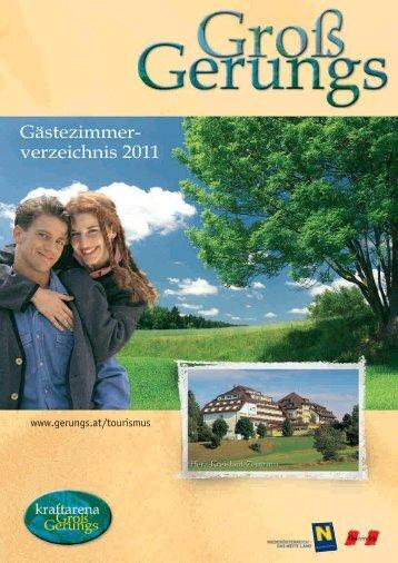 Gästezimmer- verzeichnis 2011 - Groß Gerungs