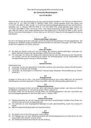 Verwaltungsgebührensatzung der Gemeinde Westerkappeln vom ...