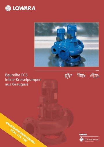 Baureihe FCS Inline-Kreiselpumpen aus Grauguss
