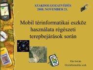 Mobil térinformatikai eszköz használata régészeti terepbejárások ...
