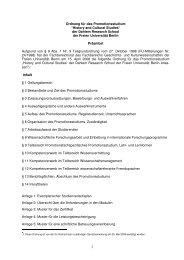 History and Cultural Studies - Fachbereich Geschichts