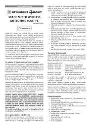 staţie meteo wireless meteotime 4cast pe - German Electronics