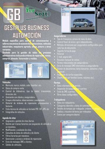 folleto - Oferta de Programas Gestión Taller Mecánico, Chapa y ...