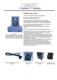 POWER PACK V-LOCK - AVC- Audiovisions- u. Cinetechnik Gmbh