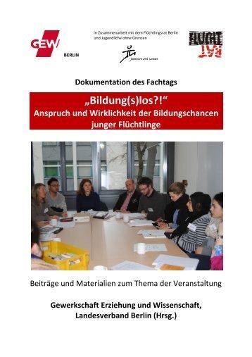 Dokumentation (pdf / 4 mb) - GEW - Berlin
