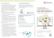 Die GDI InfoTour - GeoBranchen