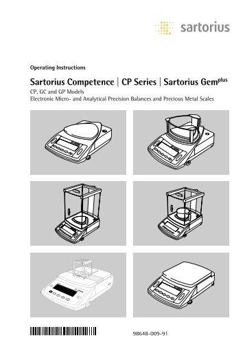 Sartorius Basic Manual Engpdf Gemini Bv