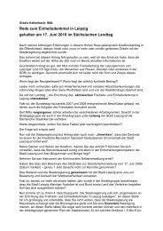 Rede zum Einheitsdenkmal in Leipzig gehalten am 17. Juni 2010 im ...