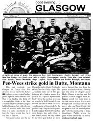 Pee - Glasgow Montana