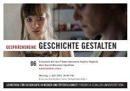 GESCHlCHTE GESTALTEN - Friedrich-Schiller-Universität Jena
