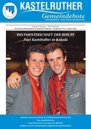 Kastelruther Gemeindebote - Ausgabe Oktober 2009 (3,27 MB)
