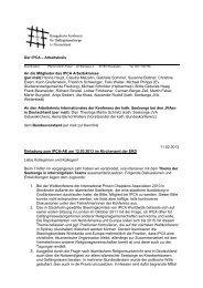 Der IPCA – Arbeitskreis An die Mitglieder des IPCA Arbeitskreises ...