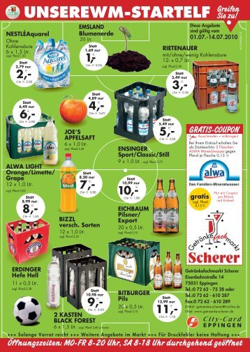 UNSEREWM‡STARTELF Greifen - Getränkefachmarkt Scherer
